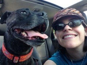 Becki and her dog